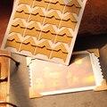 120 pçs/lote (5 folhas) DIY Do Vintage de Canto de Papel kraft Etiquetas para Álbuns de Fotos Quadro Decoração Scrapbooking Frete grátis 604