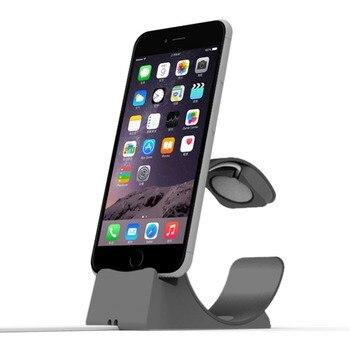 3a587b98957 2 en 1 base de cargador de escritorio para Apple Watch soporte de escritorio  base de soporte de teléfono para ipad cargador para iPhone