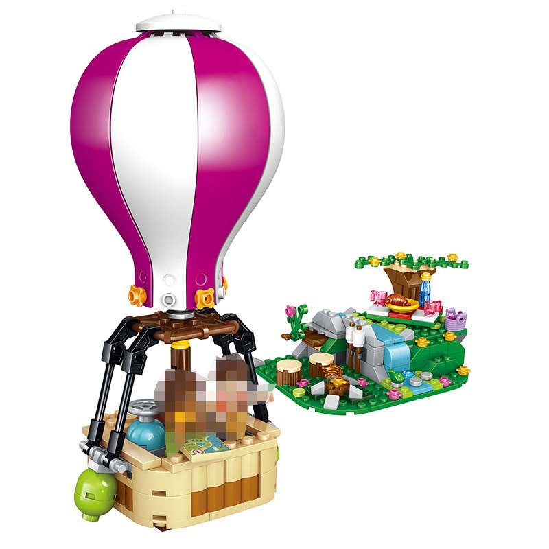 260PCS Friends Heartlake Hot Air Balloon building Blocks Bricks Toys Girl Game Compatible LegoINGLYS friends Toys for children ao058m 2m hot selling inflatable advertising helium balloon ball pvc helium balioon inflatable sphere sky balloon for sale