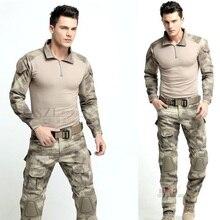 Combat Uniform Gen3 shirt+pants Military Army Suit with knee pads Multicam Uniform Set tactical traning clothes Set
