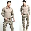 Uniforme de combate Gen3 shirt + pants Juego Del Ejército Militar con rodilleras Multicam Uniforme Set táctico traning ropa Fijada