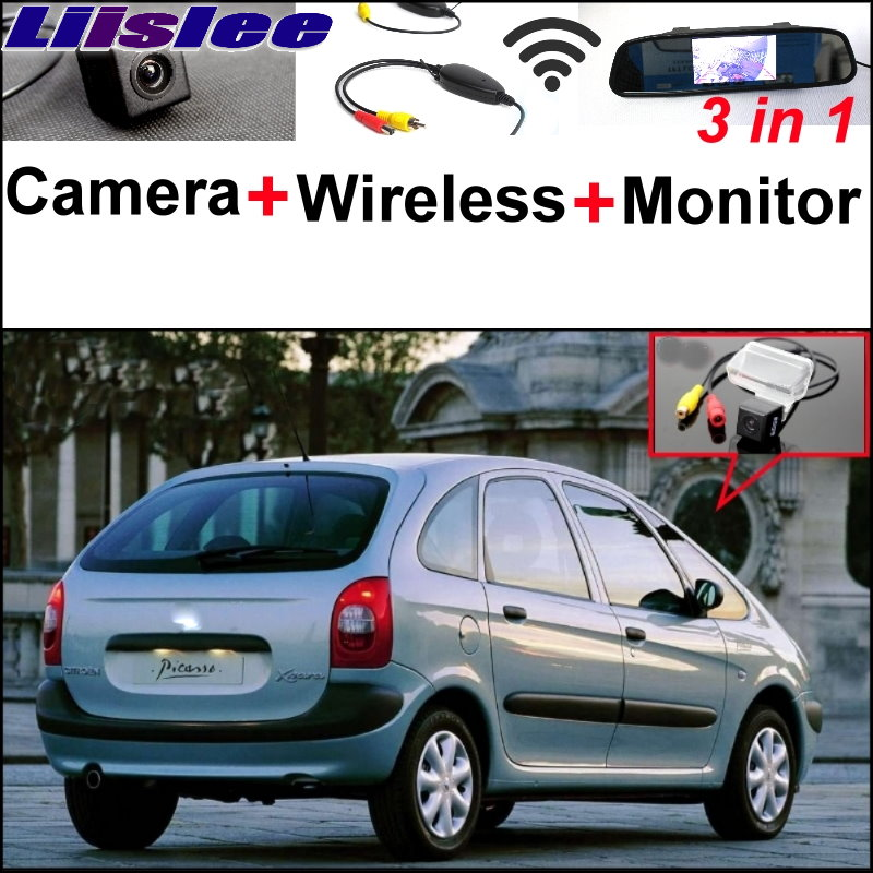 Liislee Special Rear View Camera + Wireless Receiver + Mirror Monitor Easy Backup Parking System For Citroen Xsara Picasso MPV new restaurant equipment wireless buzzer calling system 25pcs table bell with 4 waiter pager receiver
