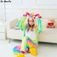 Unicorn Pajamas Kigurumi Cosplay Costume Pajama Adult Child Pajamas Star Rainbow Unicorn Onesie Family Pajamas Fleece