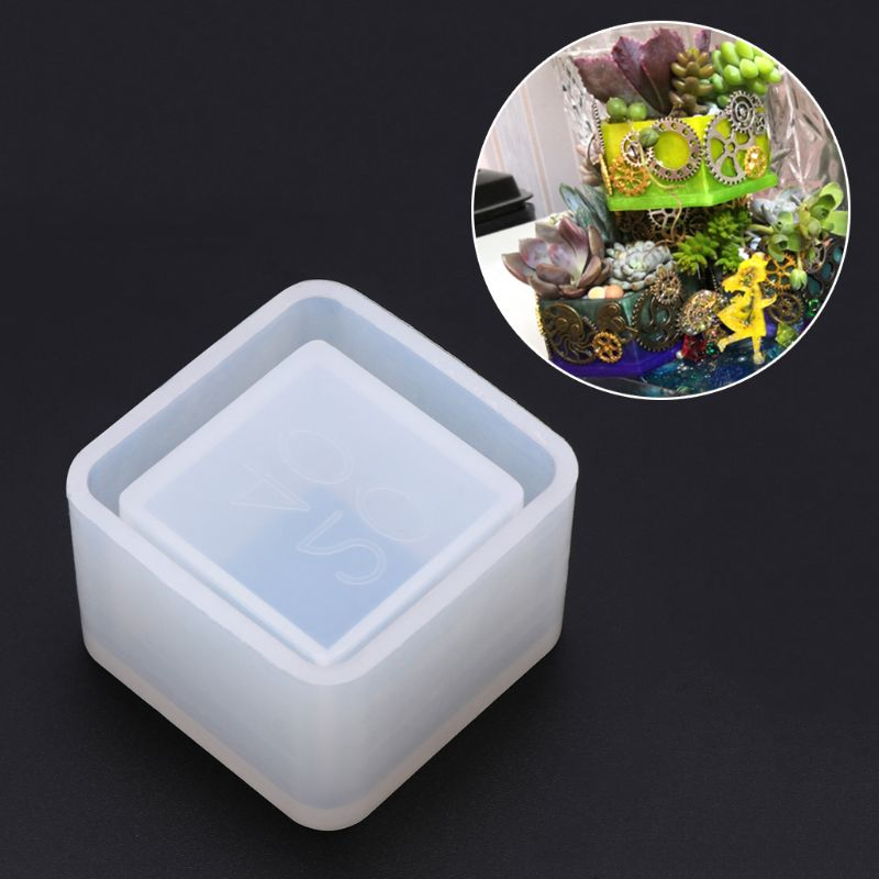 Square Small Flowerpot Silicone Mould Storage Box DIY Handmade Making Crafts Crystal Epoxy Mold Epoxy Resin For Jewelry Making