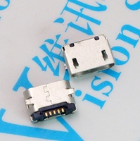 USB Connector 5PCS MICRO 5P Subsidies Piece Plain End Mike USB Female Seat Data Mouth Charge