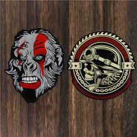 Équipement crâne Sketon patchs Gorrila tête Applique fer sur broderie Biker autocollants vêtements veste moto sac à dos Badge 1pc