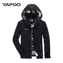 TAPOO 2017 NEW Men's Jackets Waterproof Spring Hooded Coats Men Outerwear Army Solid Casual Brand Male Clothing 822