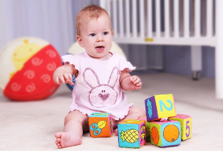 Cloth Blocks 0 And 1 Year Old Baby Educational Toys 6 Pack