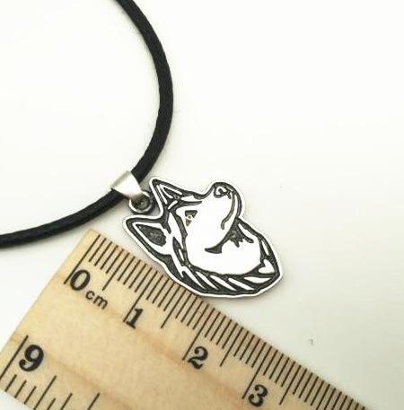Antique Silver Animal Siberian Husky Wolf Dog Necklace metal cute line pendants puppy pets snow Sled dogs women jewelry Femme