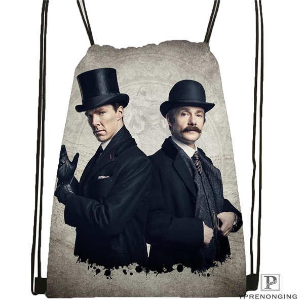 Custom Sherlock The Abominable 02 Drawstring Backpack Bag Cute Daypack Kids Satchel Black Back 31x40cm 180611