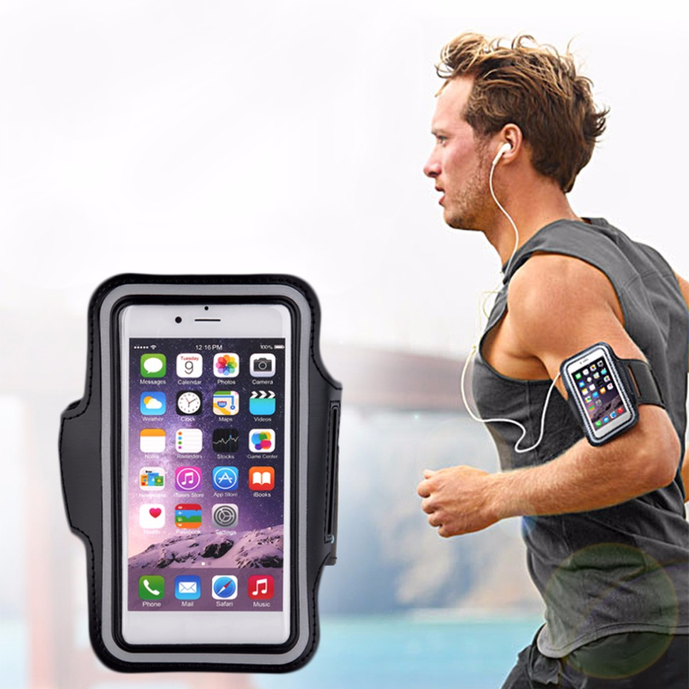 Sports Arm Band Mobile Phone Holder Bag Running Gym Armband Exercise