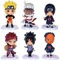 6 unids/set figuras de acción de Naruto Sasuke Anime estatuilla 7 cm PVC modelo colección de juguetes los niños del