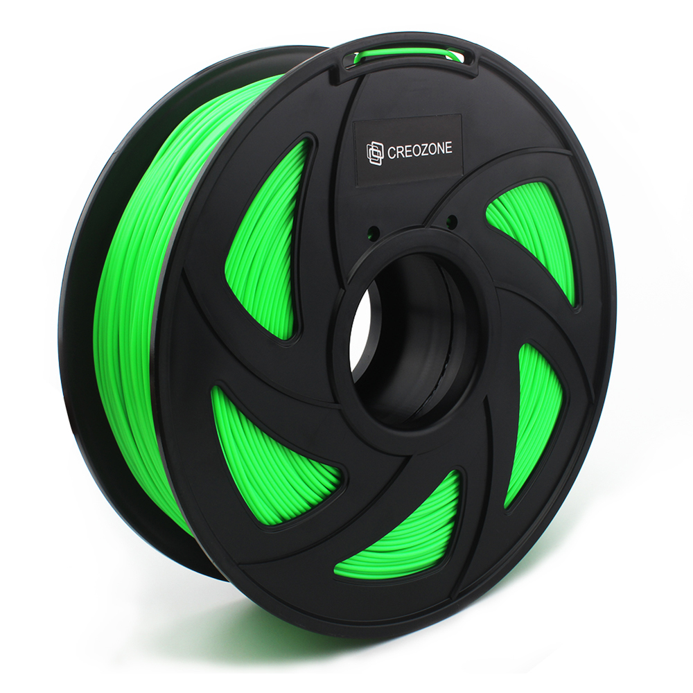 CREOZONE Green Filament for 3D Printer 1.75 1KG PLA Filament 1.75mm 3D Printer Supplies 3D Printing Materials