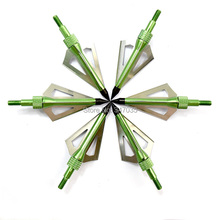 Green color 12 pieces 100 Grain bow arrow point tip arrowhead for hunting archery target outdoor sports