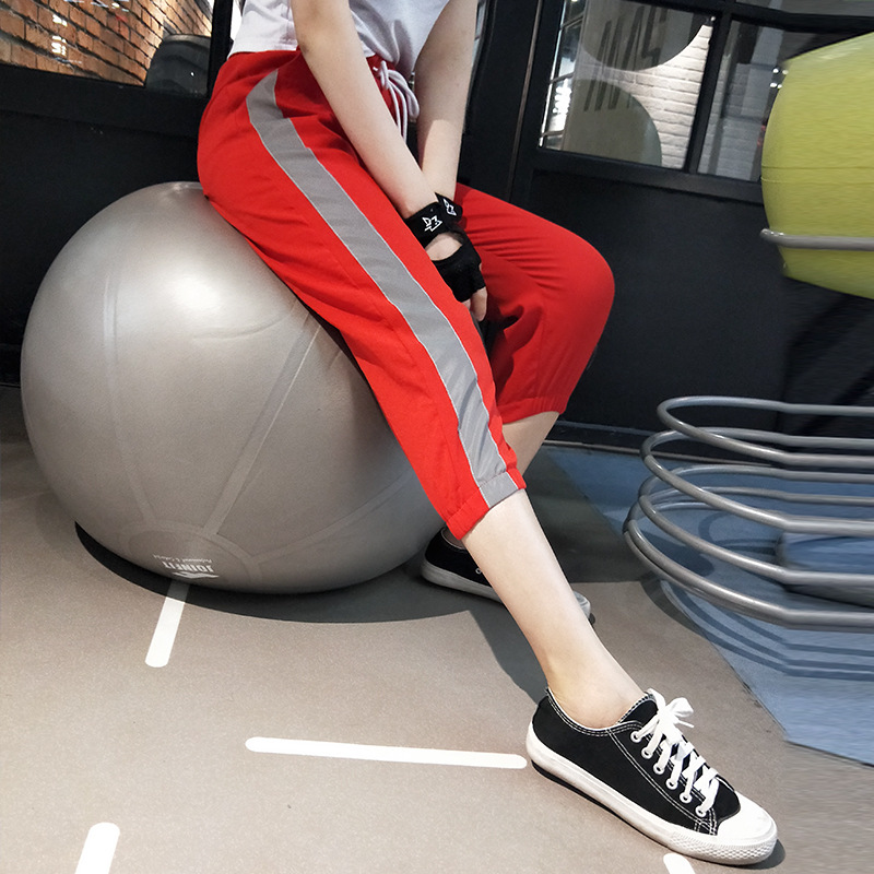 Peneran 3/4 Sport Hosen Frauen Dry Fit Sommer Jogging Hosen Frau 2019 Gym Fitness Sport Hosen Atmungs Rosa Rot Schwarz M L Kaufen Sie Immer Gut