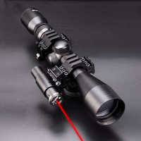 3 in 1 NEW 3 9x40 Hunting Scope Optics+Tactical Red Dot Laser Sights + QD 3 Side Rail Mounts for rifle airsoft