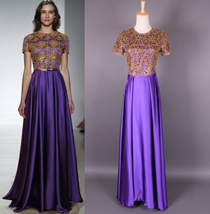 Gold And Purple Dresses Fashion