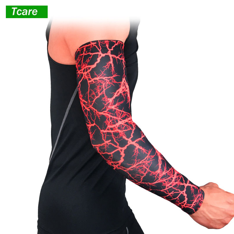 1Pcs Arm Sleeves Brace Support UV Arm Warmers Cooling Sleeves For Men Women Youth Kids UV Protection Sunblock Tattoo Cover