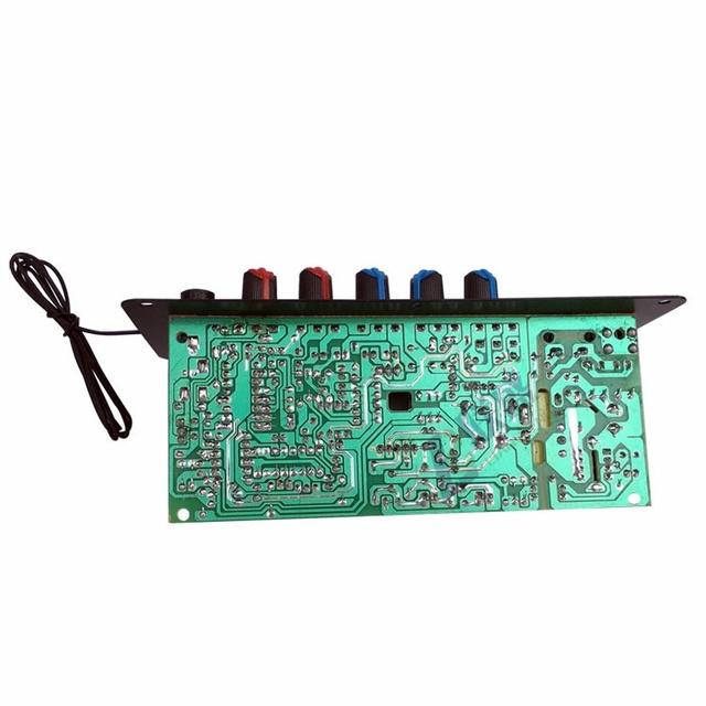 AC 220V 12v 24v Digital Bluetooth Stereo Amplifier Board Subwoofer Dual Microphone Karaoke Amplifiers For 8-12 Inch Speaker