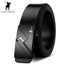 Williampolo 2019 100% Genuine Leather Men Belt Automatic Buckle Luxury Brand Fashion Waist Strap Cowskin PL17119-20P
