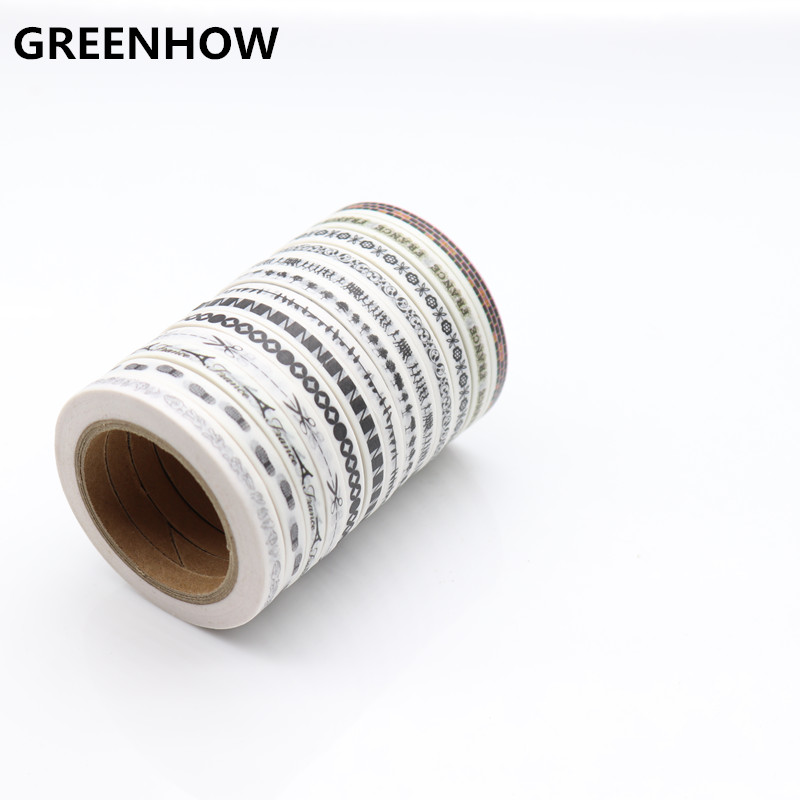 GREENHOW Very Fine Section Japanese Washi Tape Demarcation Function Masking Tapes 4500