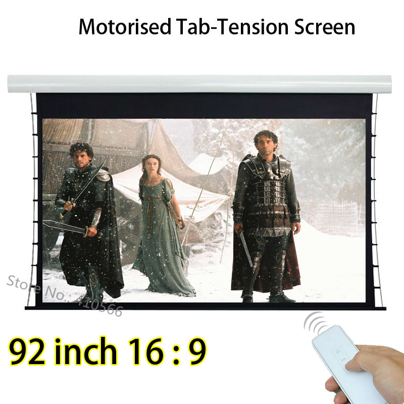 HD Image 92 Diagonal 16x9 Aspect Ratio Tab Tensioned Front Projection Screen For Acer Optoma 3D Projector 2x cool custom led dynamic illuminated welcome pedal scuff plate sill for infiniti q70 from2013 2014
