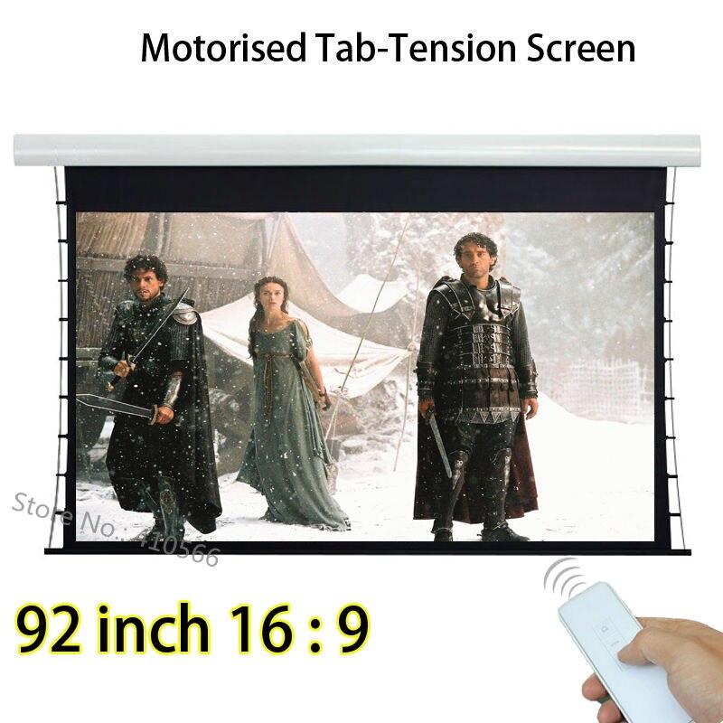 HD Image 92 Diagonale 16x9 Aspect Ratio Tab Tendu Avant Écran De Projection Pour Acer Optoma 3D Projecteur