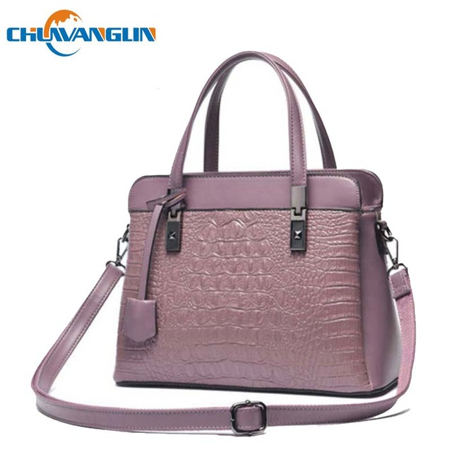 Chulin Alligator Women Shoulder Bag Fashion Hard Leather Party Handbags Casual Stereotypes Woman Messenger Bagx091502