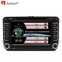 Junsun 7 Inch 2 Din Car Radio DVD GPS Player For VW Skoda Fabia Praktic Roomster