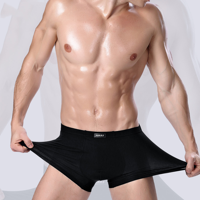 Image 2 - 2019 Brand Clothing Mens Underwear Boxer bamboo fiber Casual Male Men's Short Masculina De Marca Man Underpants Solid Color-in Boxers from Underwear & Sleepwears