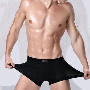 Image 2 - 2020 브랜드 의류 남성 속옷 복서 대나무 섬유 캐주얼 남성 남성 짧은 Masculina 드 마르카 남자 속옷 단색