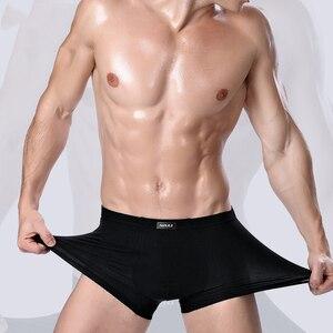 Image 2 - Boxer vêtement De marque en fibre De bambou, sous vêtement court masculin, couleur unie, collection 2020