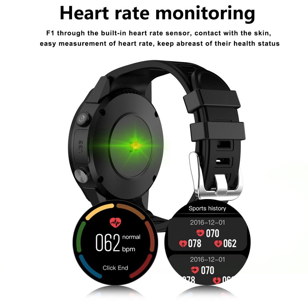 F1 montre intelligente hommes carte SIM sport SmartWatch GPS soutien podomètre Bluetooth 4.0 caméra montre-bracelet femmes pour IOS Android téléphone - 4