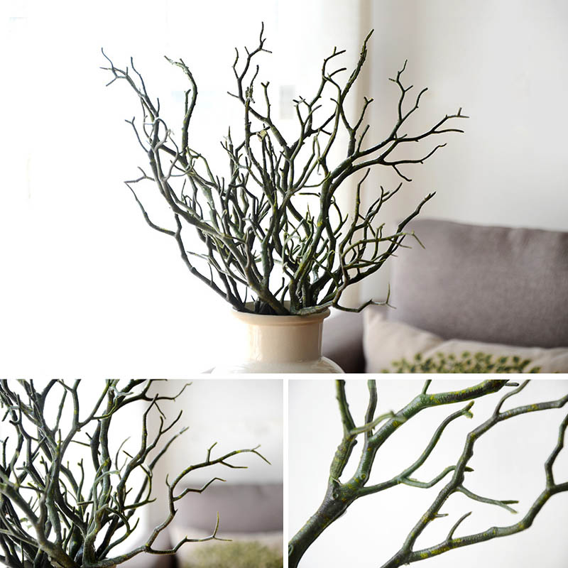 Dried Tree Home Decor Peacock Coral Branches Plastic