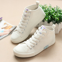 2016 spring new lace wild flat white shoes to help low fashion women canvas shoes casual shoes wild