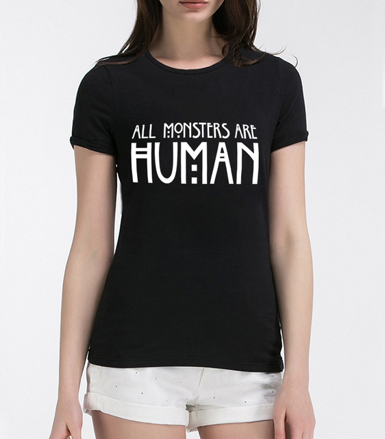 Aliexpress.com : Buy 2016 All Monsters Are Human Women Black ...