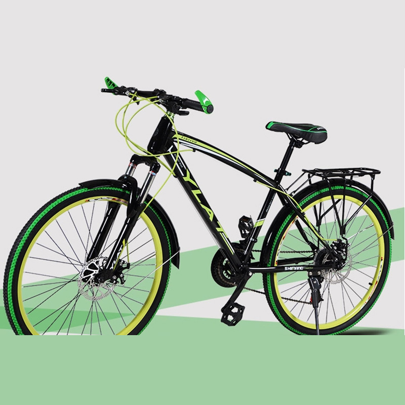 Mountain Bike 26 Inches 21V Double Disc Brake Double Disc Brake Student Bicycle With Backseat