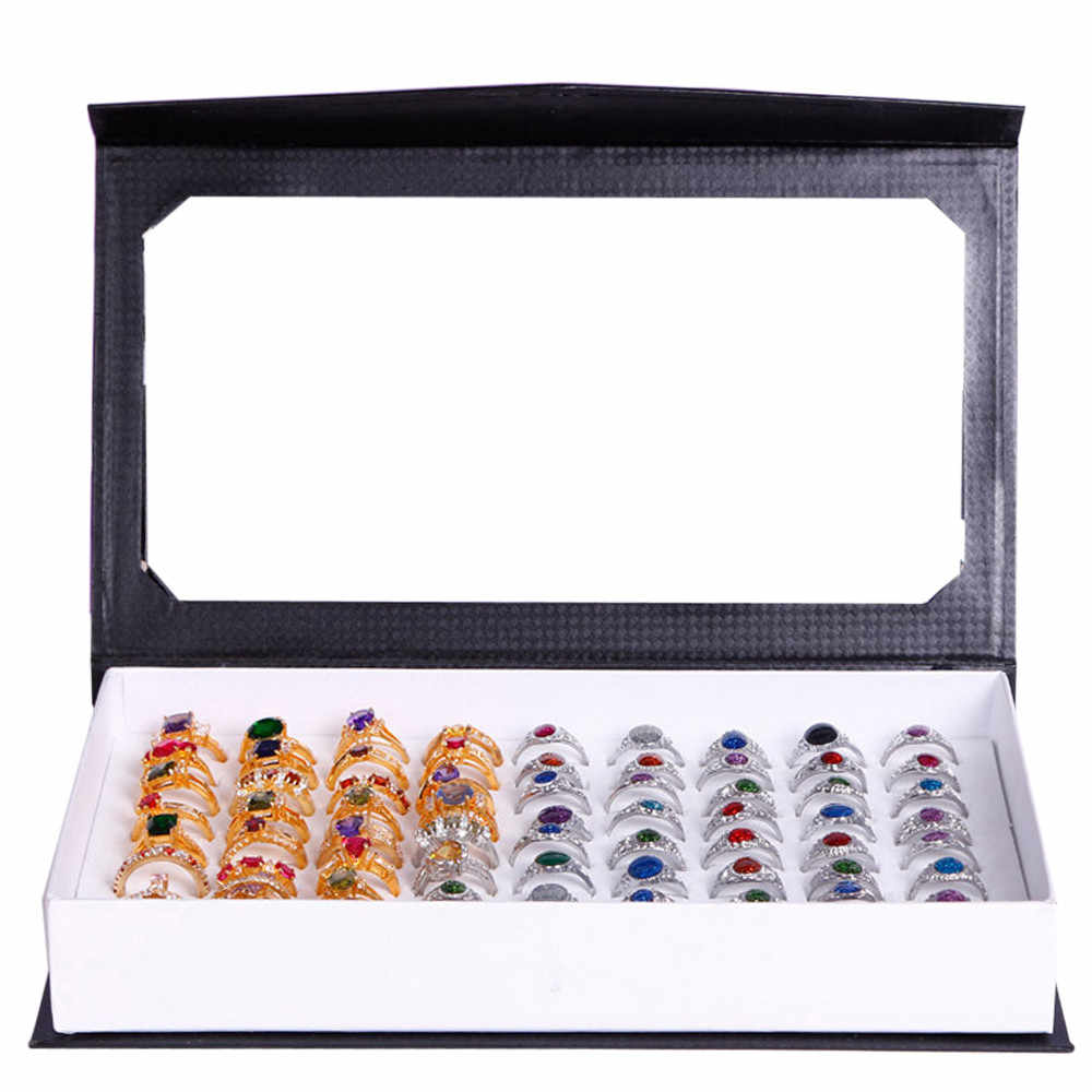 OTOKY Ring Box High-grade 72 Slot ring box Velvet Jewelry Rings Display Case Box Jewelry Storage rings Pillow case Feb28