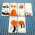 Cute Lovely We Bare Bears Series Clear Cartoon TPU Case Skin Soft Back Cover for iPhone 7 7 Plus/6/6s 6 Plus/6s Plus 5/5s/SE