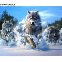 5d Diamond Painting Wolf Full Drill Picture Cross Stitch Round Diamond Embroidery Needlework Patterns Rhinestone Paintings