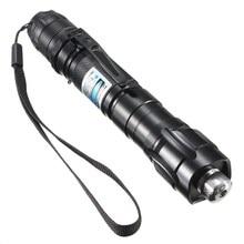 High Power Aerometal 5 patterns kaleidoscopic Purple Light Laser Pen Laser Pointer beam pen light use 18650 battery with Strap