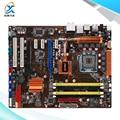 Para asus p5q pro turbo original usado motherboard desktop para intel p45 atx socket lga 775 ddr2 16g sata2 usb2.0