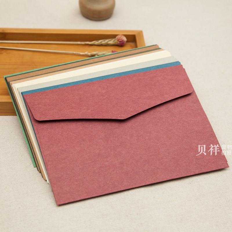 30pcs/lot Western Style High-grade Retro Large Business Envelope 250g Import Paper A5 Envelope 23*16.3cm Kraft Paper Invitation