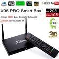 S905X Amlogic Android 6.0 Smart TV Caja 2 GB 16 GB X95 Pro Quad Core Mini PC 1G 8G 4 K H.265 Reproductor Multimedia de Cine En Casa 3D BT VS X96