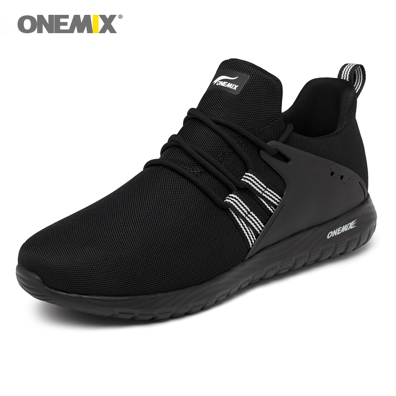 Onemix Mens Running Shoes Outdoor Sport Sneakers in Black for Lover Walking Shoes White Women Jogging Sneakers Size EU35-46Onemix Mens Running Shoes Outdoor Sport Sneakers in Black for Lover Walking Shoes White Women Jogging Sneakers Size EU35-46