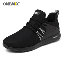 Onemix мужские кроссовки уличные спортивные кроссовки черные для влюбленных прогулочные туфли белые женские беговые кроссовки размер EU35-46