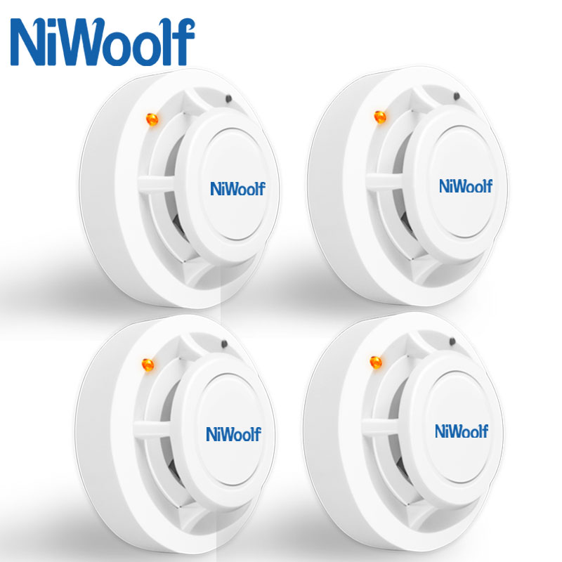 Niwoolf 433MHz Wireless Smoke Detector High Sensitivity Smoke Fire Sensor For Wifi / GSM Home Burglar Security Alarm System