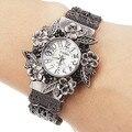 Vintage Flowers Bracelet Watches Women Watches Full Steel Watch Ladies Watch Clock Hour montre femme logio feminino reloj mujer