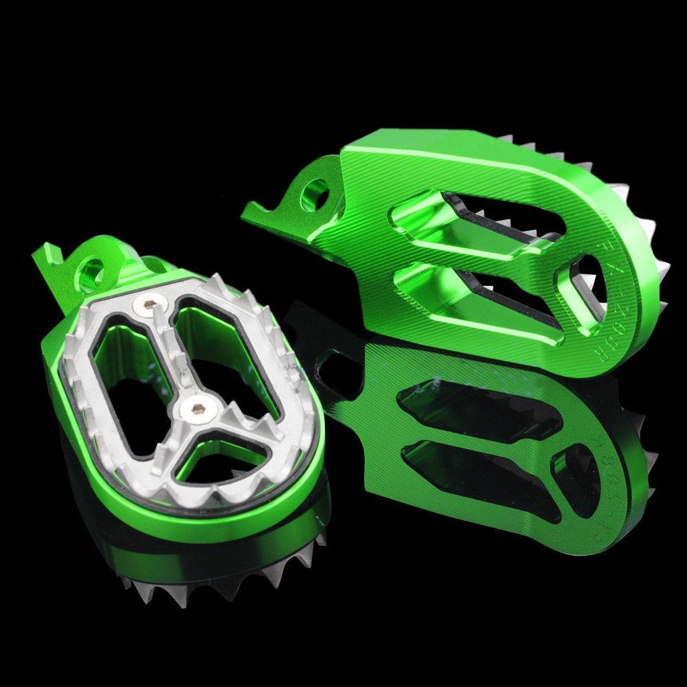 Motocross CNC Aluminum off-road Foot Pegs For Kawasaki KX250 KX250F KX450F KLX450 KLX450R