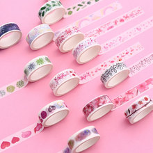 цены Kawaii girl washi tape DIY scrapbooking planner masking tape adhesive tape 15mm*5M label stationery School Supplies